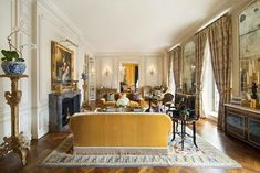 This grand apartment spans the entire floor of the Rosario Candela designed co-op located at 778 Park Avenue in New York, NY. Park Avenue Apartment, Sutton Place, Marble Floor, Grand Entrance, Real Estate Sales, Property Records, Ceiling Windows, Apartments For Sale, Wood Paneling
