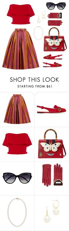 """""""Lady like"""" by danilicious86 ❤ liked on Polyvore featuring House of Holland, Gucci, Reem Acra, La Perla and Kenneth Jay Lane"""