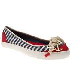 These shoes would be perfect with cute white shorts and a red or navy blue summer tank. Makes a perfect 4th of July outfit. <3