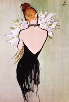 René Gruau (1909-2004), 1967, Miss Dior perfume.