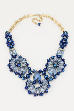 Crystal Valencia Necklace in Royal Sapphire on Emma Stine Limited