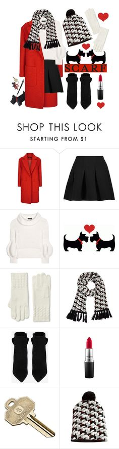 """Scottie Love (Winter Scarf Style)"" by leslee-dawn ❤ liked on Polyvore featuring Jaeger, T By Alexander Wang, Burberry, Lands' End, Vera Bradley, Yves Saint Laurent, MAC Cosmetics and Baldwin"