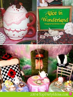 So having an unbirthday on pinterest alice in wonderland for Alice in wonderland tea party decoration ideas