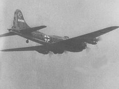 Captured American B-17 used by the Luftwaffe During World War II, after crash-landing or being forced down, approximately 40 B-17s were repaired and put back into the air by the Luftwaffe.