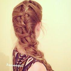 mermaid braid , fishtail mermaid braid
