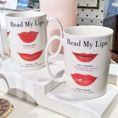 Add a fun twist to the breakfast table with @katespadeny tongue-in-cheek lip mugs.