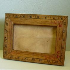 vintage rulers for frames - To display ancestors for Pioneer Day!