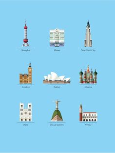 Iconic buildings illustrated by Le Duo