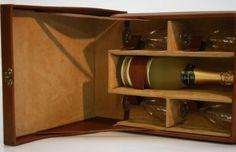 Champagnerkoffer - Wallmann Lederwaren Austria, Liquor Cabinet, Shelves, Luxury, Storage, Furniture, Home Decor, Products, Dime Bags