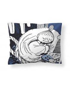 Torkkumyy-tyynyliina, valko-sininen