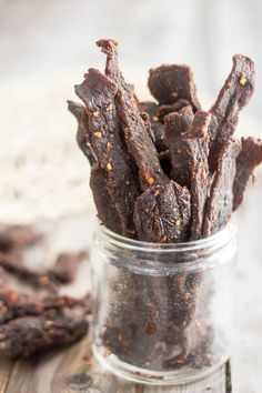 Bookish snack, I'm thinking: Homemade Beef Jerky   by Sonia The Healthy Foodie