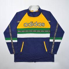 Vintage 80s 90s ADIDAS Cewneck Sweatshirt / ADIDAS Big Logo Pullover / Retro Adidas Sweater / Vintage ADIDAS Jumper / Street Adidas Pullover Adidas Jumper, Fashion Killa, Mens Fashion, Fashion Outfits, Mode Vintage, Vintage Shops, Adidas Originals, Motocross Shirts, Retro Sweatshirts