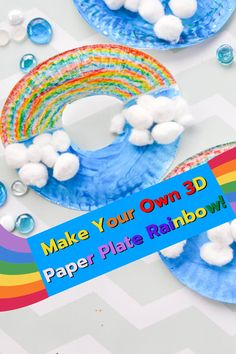 This easy to make pop up paper plate rainbows are a great exercise in scissor skills. The kids love decorating them and of course we've included a learning book list! #kidsreadinglist #rainbowlearning #kidscraftideas Paper Plate Crafts For Kids, Spring Crafts For Kids, Teaching Colors, Teaching Ideas, Fun Diy Crafts, Kids Crafts, Activity Ideas, Craft Ideas, Rainbow Learning