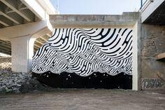 Brendan Monroe the Blob in Cleveland, Ohio, 2016 Mural Wall Art, Canvas Wall Art, Art Public, Monroe, City Landscape, Street Art Graffiti, Graffiti Drawing, Office Art, Retro Futurism
