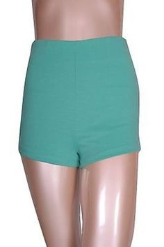 Casual Solid Colors High Waist Banded Stretch Zipper Back Slim Short
