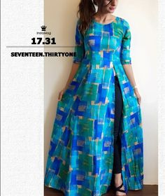 Side slit dres s Churidar Designs, Kurta Designs Women, Blouse Designs, Indian Dresses, Indian Outfits, Salwar Pattern, Hijab Style, Vetement Fashion, Indian Designer Wear
