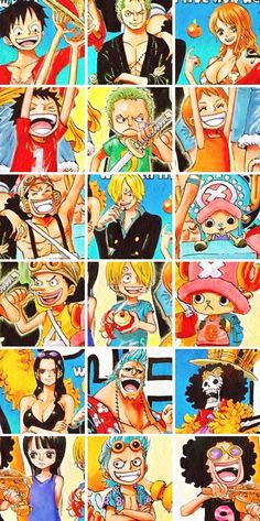 One Piece // Oh my gosh, they're all so cute! Haha, even as a kid, Sanji had a crush on Nami xD: