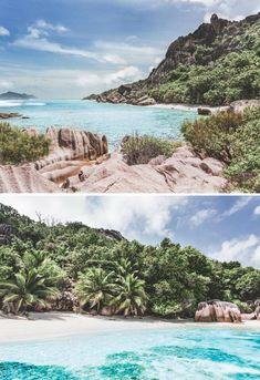 Pláž Anse Pierrot na ostrove La Digue na Seychelách.