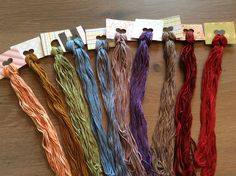 Wholesale - Overdyed Floss New Colors!- 10 large skeins - Natural Dyes  Lot 69 #QueenCityDyeCompany