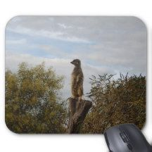 Meerkat_Tree_Tops,_Mousepad. Mouse Pad