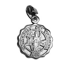 University Of Virginia Seal Charm Of Sterling Silver