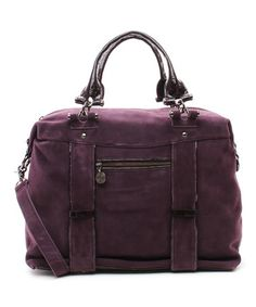 Take a look at this Plum Galaxe Suede Satchel on zulily today!