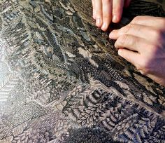 """After two years of preparation and meticulous carving, """"Overlook"""" is an upcoming woodcut print from the minds and hands of Paul Roden and Valerie Lueth of Pittsburgh-based Tugboat Printshop (previously). The duo make some of the most stunning limited edition woodcut prints arou"""
