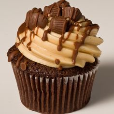 Chocolate Cupcake with Easy Peanut Butter Buttercream Frosting