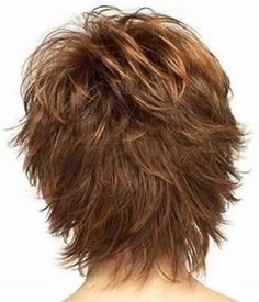Image result for Short Shag Hairstyles Back View Wavy