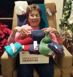 95-Year-Old Grandma Knits Hundreds of Holiday Scarves for U.S. Troops: Nikki Smith of Encino, California says she wakes up everyday, puts her feet on the floor, and thanks God.
