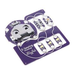 The LilyPad E-Sewing ProtoSnap is a great way to explore how buttons and switches behave in simple e-sewing circuits before crafting your project. Cat Template, Templates, E Textiles, Sewing Basics, Simple, Projects, Circuits, Crafts, Diy