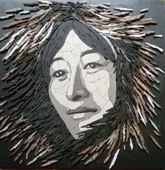Mosaic Portrait, Mosaic Art, Faces, Board, Porcelain, Drinkware, The Face, Face, Mosaics