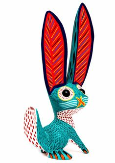 art mexicano rabbit with marble eyes alebrije - Cheryls Trading Post Mexican Crafts, Mexican Folk Art, Native Art, Native American Art, Line Art Lesson, Tableaux D'inspiration, Paper Mache Animals, Mexican Heritage, Haida Art