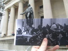 """FILMography, where Christopher Moloney takes pictures of black-and-white film stills matched up in front of their New York City locations. Below is an example with The Dark Knight Rises. Famous Movie Scenes, Famous Movies, Iconic Movies, Conceptual Photography, Art Photography, Creative Photography, Nananana Batman, The Dark Knight Rises, Geek Art"