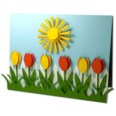 Summer Bulletin Boards For Daycare Discover Silhouette Design Store: Tulip Fence Card Silhouette Design Store - View Design tulip fence card School Board Decoration, Class Decoration, School Decorations, Ben E Holly, Paper Flowers For Kids, Art For Kids, Crafts For Kids, Rainbow Paper, Mothers Day Crafts