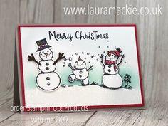 Stampin' Up! Demonstrator, Card making Stamped Christmas Cards, Homemade Christmas Cards, Stampin Up Christmas, Christmas Cards To Make, Xmas Cards, Homemade Cards, Christmas Snowman, Harry Potter Birthday Cards, Stamping Up Cards