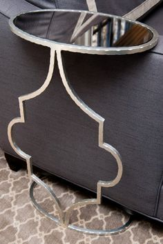 LIVING ROOM - Worlds Away Quatrefoil Metal Side Table; Liepold Design Group LLC