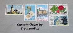 Reserved Custom Order for Jill. Unused Vintage US Postage Stamps for Bridal Shower invitations by TreasureFox on Etsy