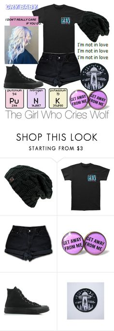 """""""The Girl Who Cries Wolf"""" by too-trashy-4-u ❤ liked on Polyvore featuring Levi's and Converse"""