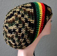 Unisex Crochet Rasta Hat. Dreadlocks Hat. Bob ♥ by Africancrab