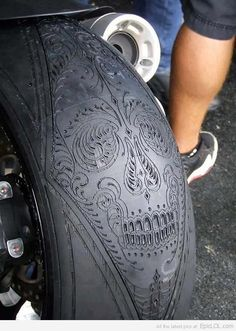 Motorcycle tire art