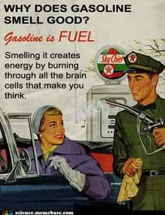 old Texaco ad with bad science: