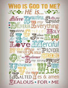 Free Who Is God To Me Printable- LOVE THIS!!! Want a poster size