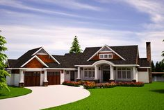 House Plan 7806-00010 - A beautiful Country Plan with a basement foundation. The main floor features approximately 1,694 square feet of living space that offers one bedroom, one plus baths, an office and a huge living/dining space.