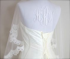 Hey, I found this really awesome Etsy listing at https://www.etsy.com/listing/182709567/lace-mantilla-veil-with-monogram-lace