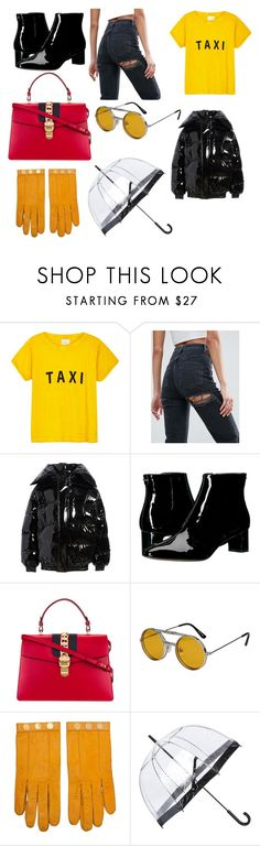 """""""Yellow, Yellow, Yellow."""" by tiril-schiotz ❤ liked on Polyvore featuring Compañia Fantastica, ASOS, Vetements, Calvin Klein, Gucci, Spitfire, Hermès and Fulton"""