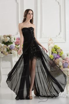 Sheath/column Sweetheart Stretch Satin Chiffon Crystal Prom Dress
