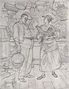Albert Dorne - working drawing