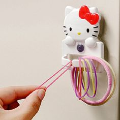 b575293e3 Hello Kitty Rubber Band Holder Case Container Elastic Hair Ponytai Braiding  Loom