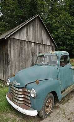 Faded Blue Chevy Pick-UP